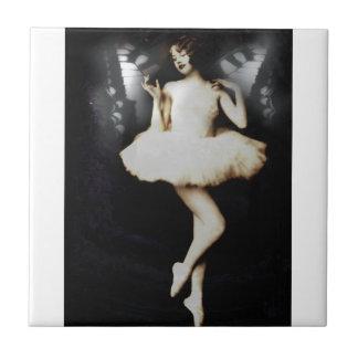 Vintage Butterfly Ballerina Fairy Tile