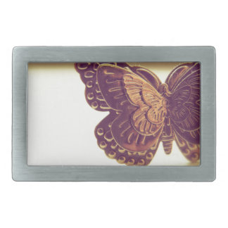 Vintage Butterfly Rectangular Belt Buckle