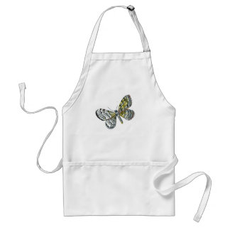 Vintage butterfly book drawing plate print adult apron