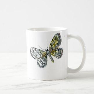 Vintage butterfly book drawing plate print coffee mug