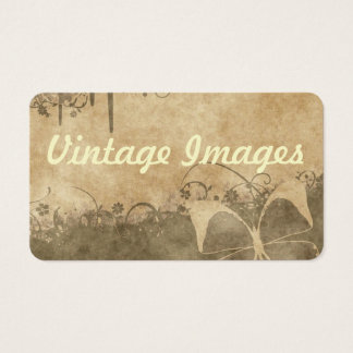 Vintage Butterfly Business Card
