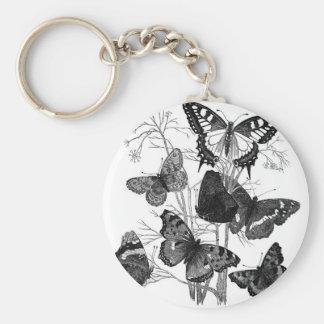 Vintage Butterfly Butterflies Print Keychain