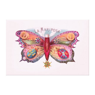 Vintage Butterfly Cigar Gallery Wrap Canvas