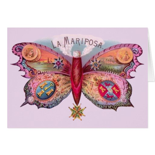 Vintage Butterfly Cigar Card