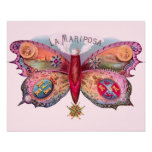 Vintage Butterfly Cigar Print