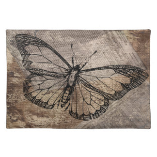 Vintage Butterfly Cloth Placemat