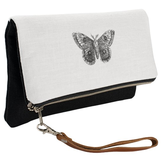 Vintage Butterfly Clutch