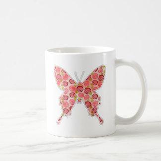 vintage butterfly coffee mug
