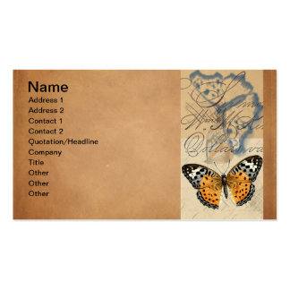 Vintage Butterfly Collection Business Card