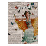 Vintage Butterfly Dancer Dictionay Page Notecard Cards