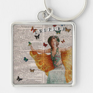Vintage Butterfly Dancing Girl Keychain