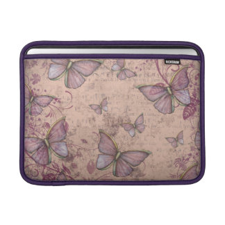 Vintage Butterfly Design in Shades of Pink MacBook Sleeve