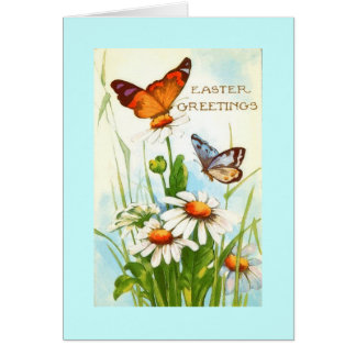 Vintage Butterfly Easter Greeting Card