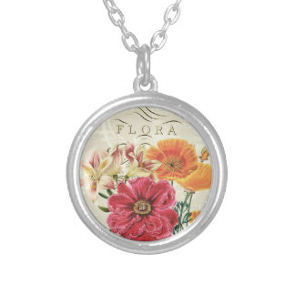 Vintage Butterfly Flora...charm necklace