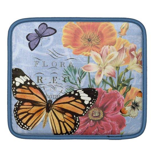 Vintage Butterfly Flora...ipad sleeve
