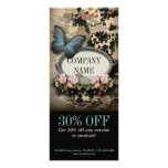 vintage butterfly floral girly beauty SPA fashion Rack Card Design