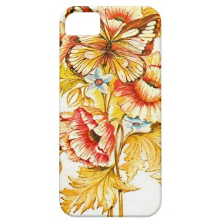 Vintage Butterfly Floral iPhone 5 Cases