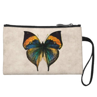Vintage Butterfly Illustration 1800 s Butterflies Wristlet Clutch