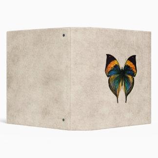 Vintage Butterfly Illustration 1800's Butterflies 3 Ring Binder