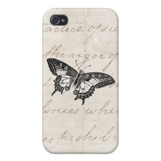 Vintage Butterfly Illustration 1800's Butterflies Cases For iPhone 4