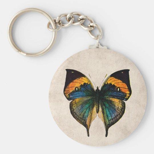 Vintage Butterfly Illustration 1800's Butterflies Keychain