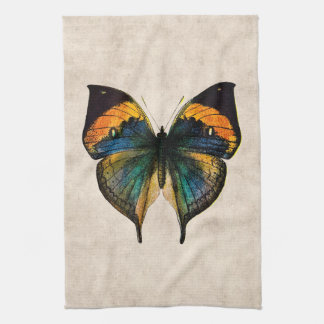 Vintage Butterfly Illustration 1800's Butterflies Hand Towel