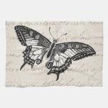 Vintage Butterfly Illustration 1800's Butterflies Towels
