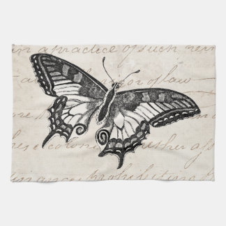 Vintage Butterfly Illustration 1800's Butterflies Towel