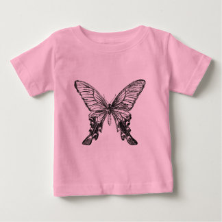 Vintage Butterfly Illustration Baby T-Shirt