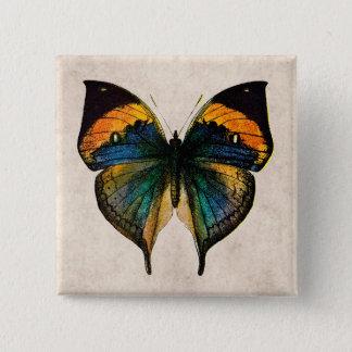 Vintage Butterfly Illustration - Butterflies Button