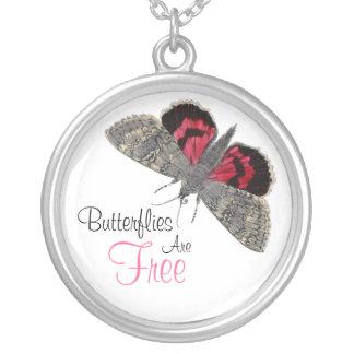 Vintage Butterfly illustration - necklace