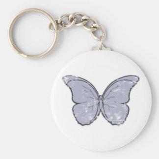 Vintage Butterfly Basic Round Button Keychain