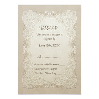 Vintage Butterfly Lace Wedding - All Customizable Personalized Invites