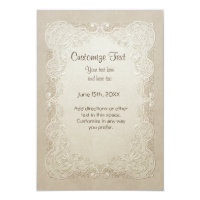 Vintage Butterfly Lace Wedding - All Customizable Custom Announcement (<em>$2.12</em>)