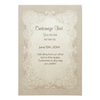 Vintage Butterfly Lace Wedding - All Customizable Custom Announcement