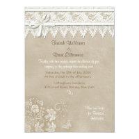 Vintage Butterfly Lace Wedding Invitation Custom Invitations (<em>$2.27</em>)
