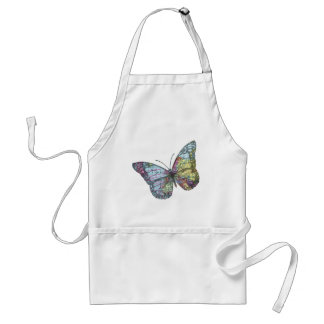 Vintage Butterfly Map Adult Apron