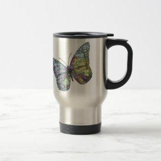 Vintage Butterfly Map Travel Mug
