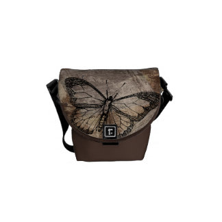 Vintage Butterfly Messenger Bag