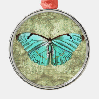Vintage Butterfly Metal Ornament