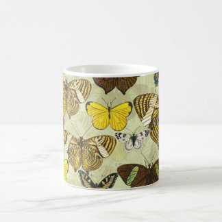 Vintage Butterfly Moth Chart Pattern Coffee Mug