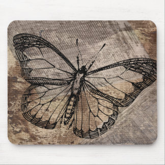 Vintage Butterfly Mouse Pad