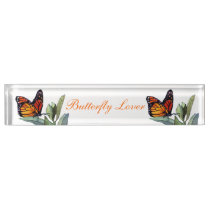 Vintage Butterfly Nameplate