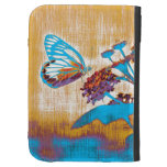Vintage Butterfly on flower 2 Kindle Cover