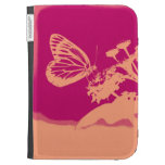 Vintage Butterfly on flower Kindle Cases