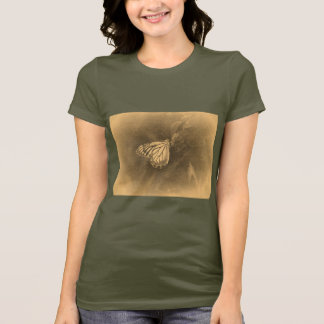 Vintage Butterfly on Flower T-Shirt