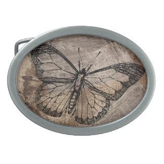 Vintage Butterfly Oval Belt Buckle