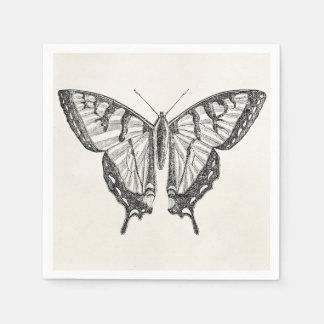 Vintage Butterfly Personalized Butterflies Insects Paper Napkin