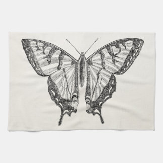 Vintage Butterfly Personalized Butterflies Insects Towel