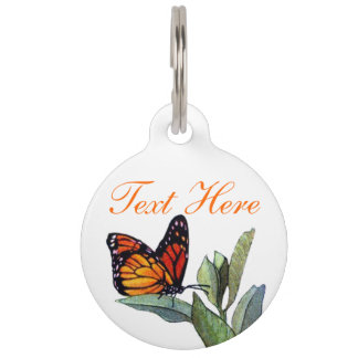 Vintage Butterfly Pet ID Tag